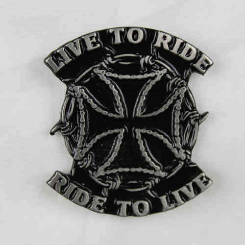 "Pin ""Live to Ride"" Anstecker"