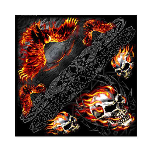 """Burning Skull Eagle"" Bandana Tuch"