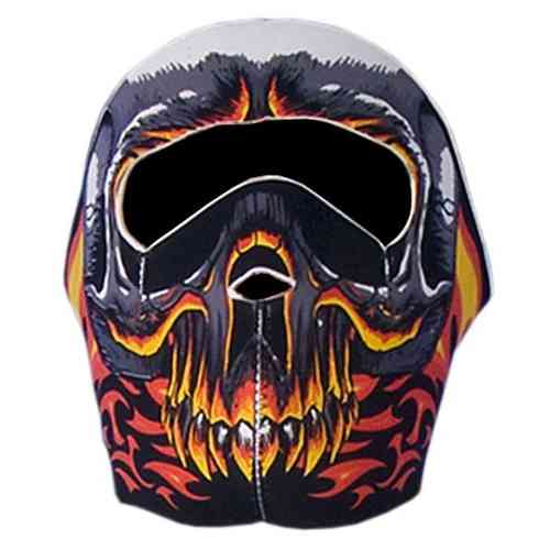 """Red Evil Skull"" Neopren - Face Mask"