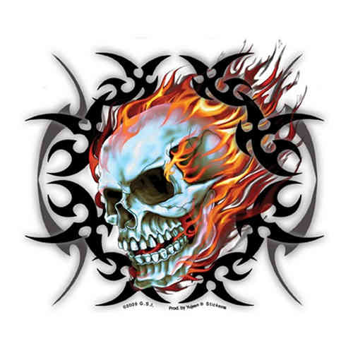 """Mirror Skull"" Aufkleber/Decal"