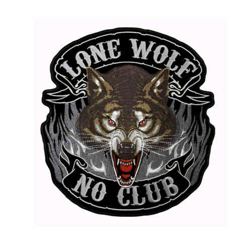 Lone Wolf Full Face Rückenaufnäher/Backpatch