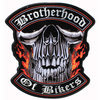 Brotherhood Of Bikers Rückenaufnäher/Backpatch