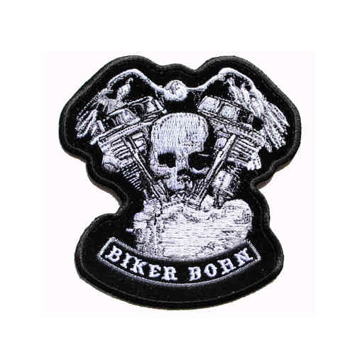 Distressed Skull & Motor Aufnäher/Patch