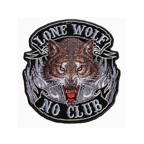 Lone Wolf Full Face Aufnäher/Patch