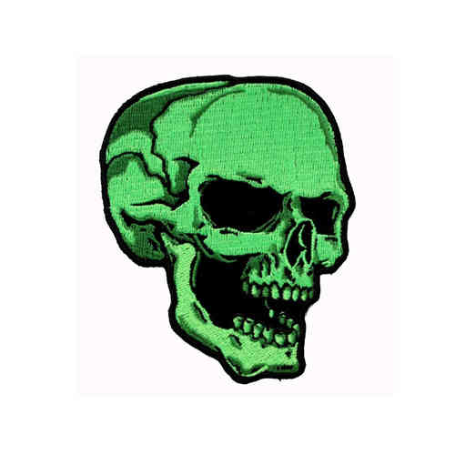 Green Skull Right Aufnäher/Patch