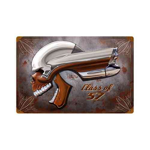 Buick Skull Class Of '57 Blechschild - Metal Sign