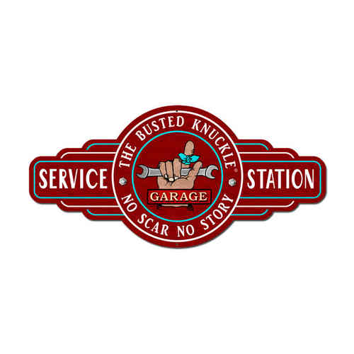 Service Station Blechschild - Metal Sign