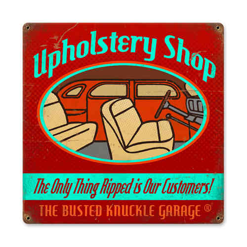 """Upholstery Shop"" Blechschild - Metal Sign"