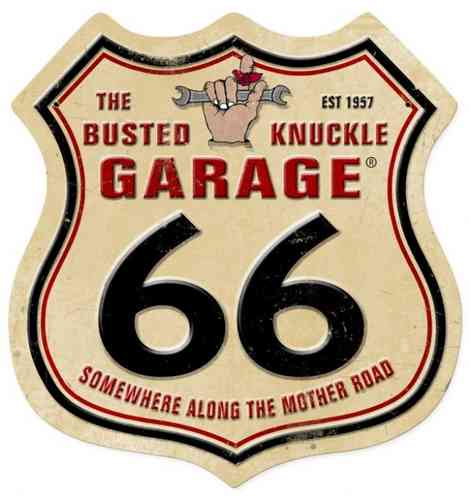 Route 66 Blechschild - Metal Sign