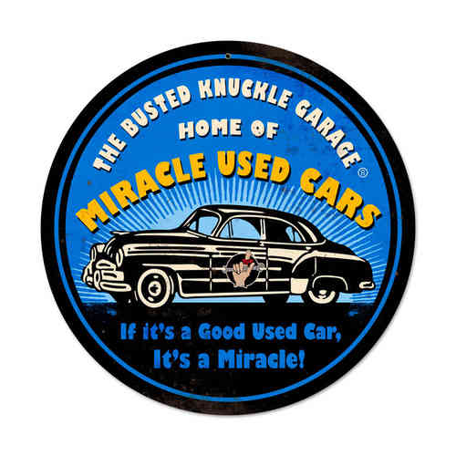Miracle Used Cars Blechschild - Metal Sign