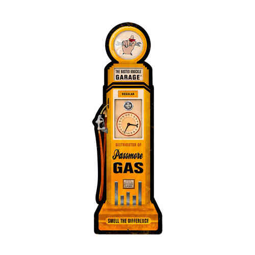 Passmore Gas Pump Blechschild - Metal Sign