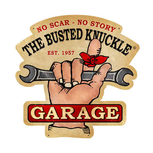Busted Knuckle Garage Blechschild - Metal Sign