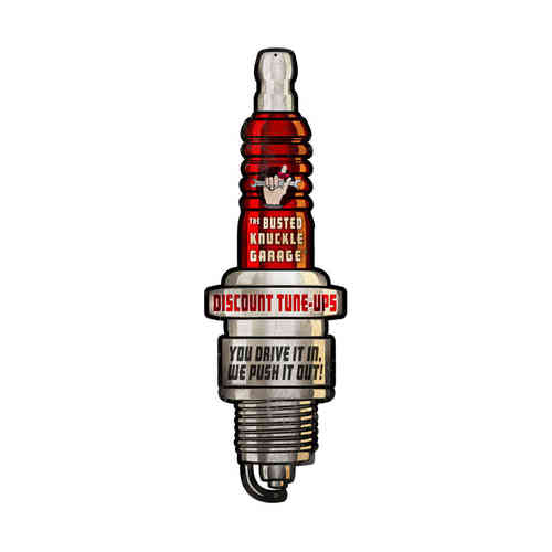 """Spark Plug"" Blechschild - Metal Sign"
