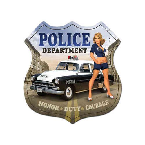 Police Department - Metal Sign