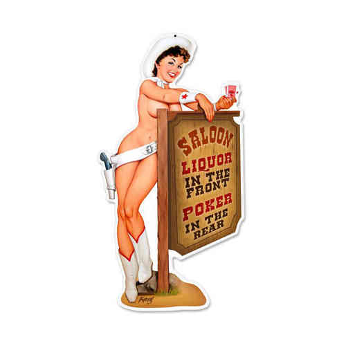 """Cowgirl Saloon"" Blechschild - Metal Sign"