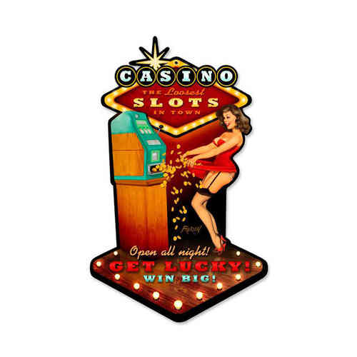 """Casino Pinup"" Blechschild - Metal Sign"