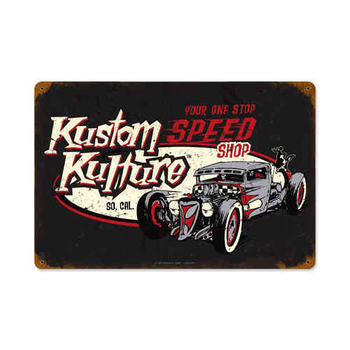 """Kustom Kulture"" Blechschild - Metal Sign"