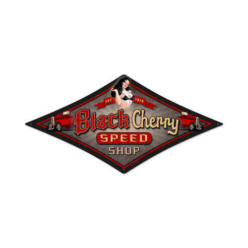 Black Cherry Blechschild - Metal Sign