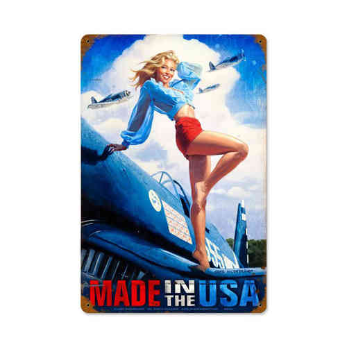 Made in the USA Blechschild - Metal Sign