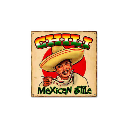 Chili Mexican Blechschild - Metal Sign