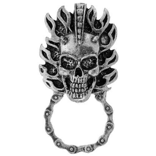 Skull with Flame  Brillenhalter