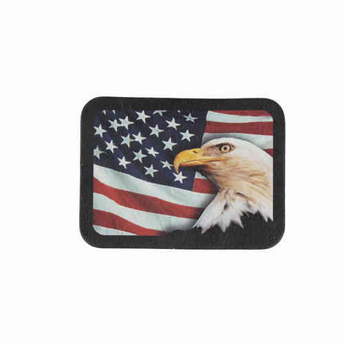 USA Bald Eagle Flag Leather Patch - Echt Leder Aufnäher