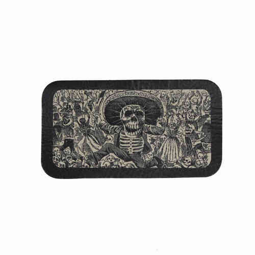 Day Of The Dead Dancing Leather Patch - Echt Leder Aufnäher