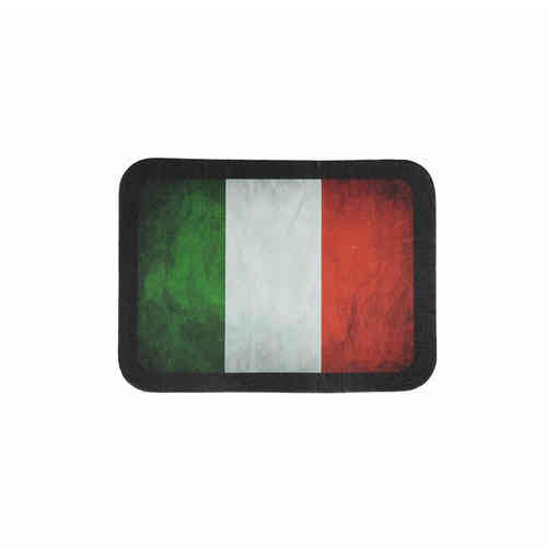 Italian Flag Leather Patch - Echt Leder Aufnäher