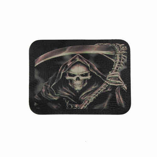 Grim Reaper Leather Patch - Echt Leder Aufnäher