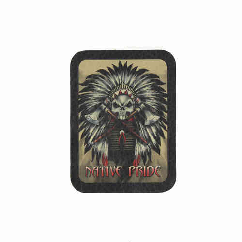 Native Pride Leather Patch - Echt Leder Aufnäher