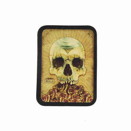 Malo Skull Leather Patch - Echt Leder Aufnäher