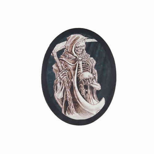 Grim Reaper Sketch Leather Patch - Echt Leder Aufnäher