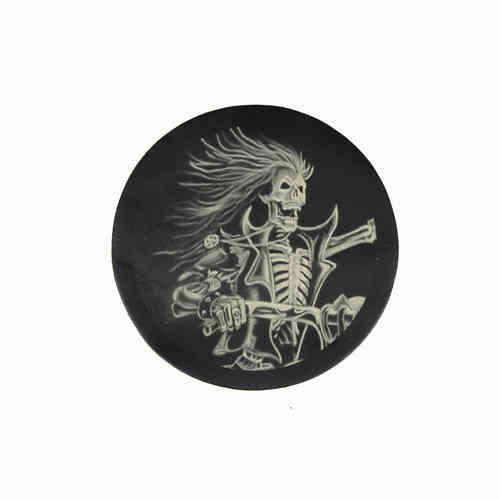 Skeleton Rider Leather Patch - Echt Leder Aufnäher