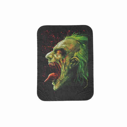 Zombie Joker Leather Patch - Echt Leder Aufnäher
