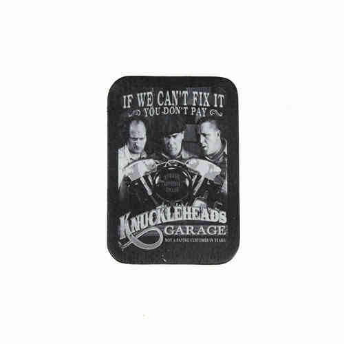 Knuckleheads Garage Leather Patch - Echt Leder Aufnäher