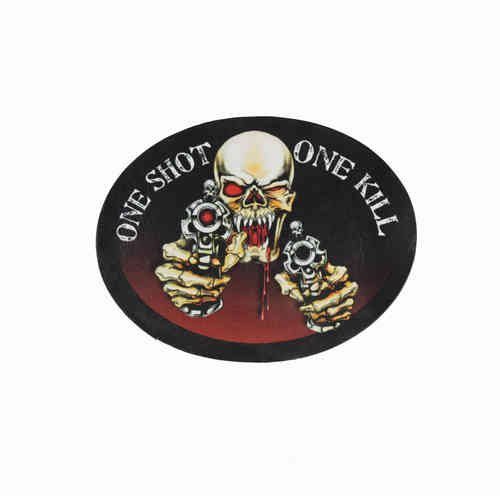 One Shot One Kill Leather Patch - Echt Leder Aufnäher