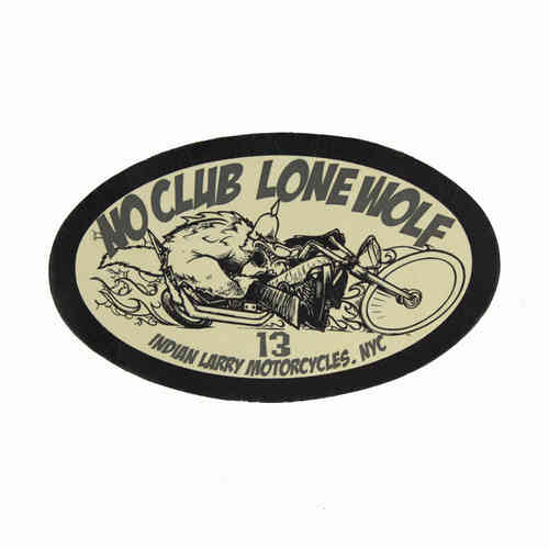 No Club Lone Wolf Leather Patch - Echt Leder Aufnäher