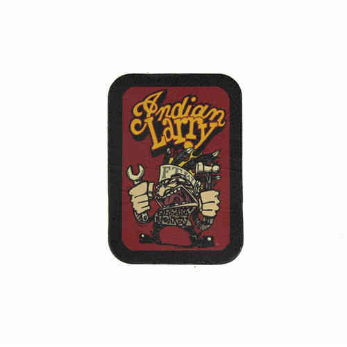 Indian Larry FTW Grease Monkey Leather Patch - Echt Leder Aufnäher