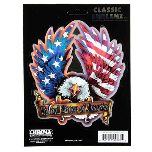 USA w/ Eagle Classic Aufkleber/Decal