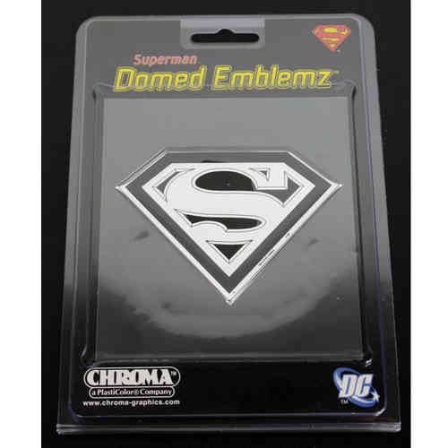 Supermann Logo Domed Emblem Aufkleber/Decal
