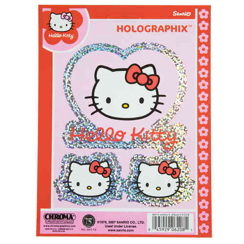 Hello Kitty Holographik Aufkleber/Decal