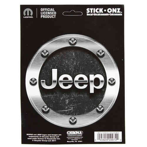Jeep Machined Look Aufkleber/Decal