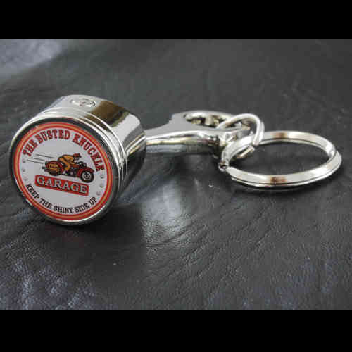"""Busted Knuckle Garage Motorcycle"" Piston Keychain - Schlüsselanhänger"