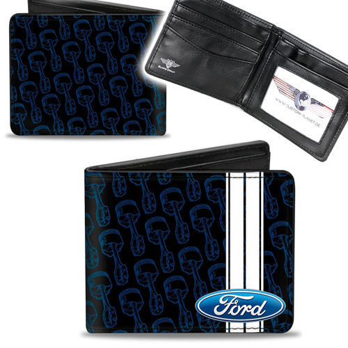 """Ford Oval Stripe Piston"" Bi-Fold Wallet - Geldbörse"