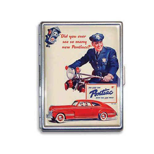 "GM ""See So Many Pontiacs"" Zigarettenetui - Cigarette Case"