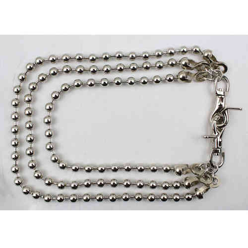"""Ball Chain Triple"" Kette - Wallet Chain"