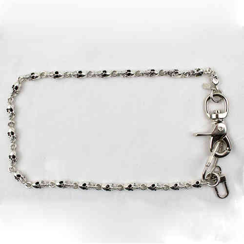 """Profile Skull Med A.S."" Kette - Wallet Chain"