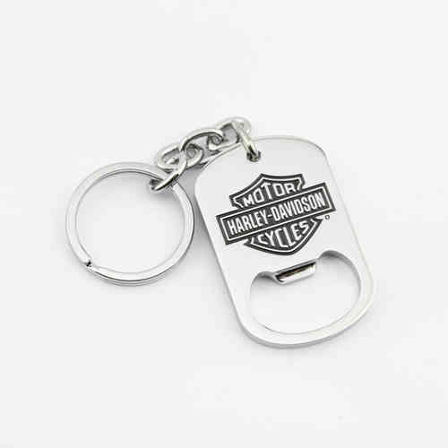 """Harley Davidson Bar & Shield"" Keychain - Flaschenöffner"