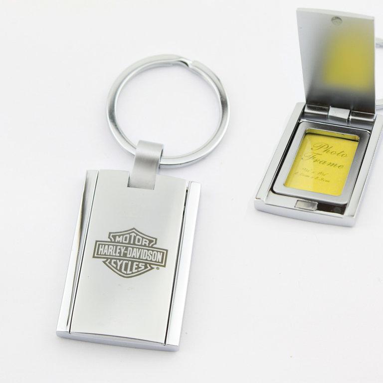harley davidson picture frame keychain. Black Bedroom Furniture Sets. Home Design Ideas