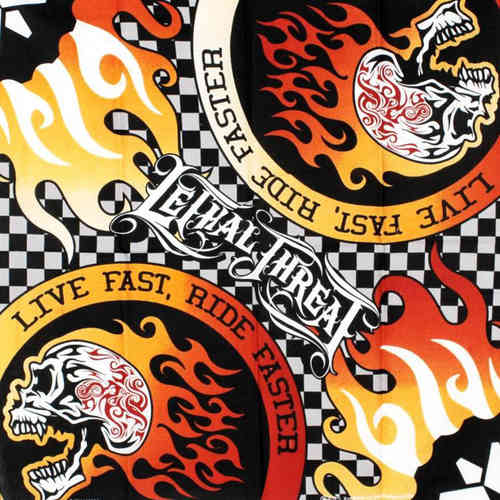 """Live Fast Ride Harder"" Lethal Threat Bandana Tuch"